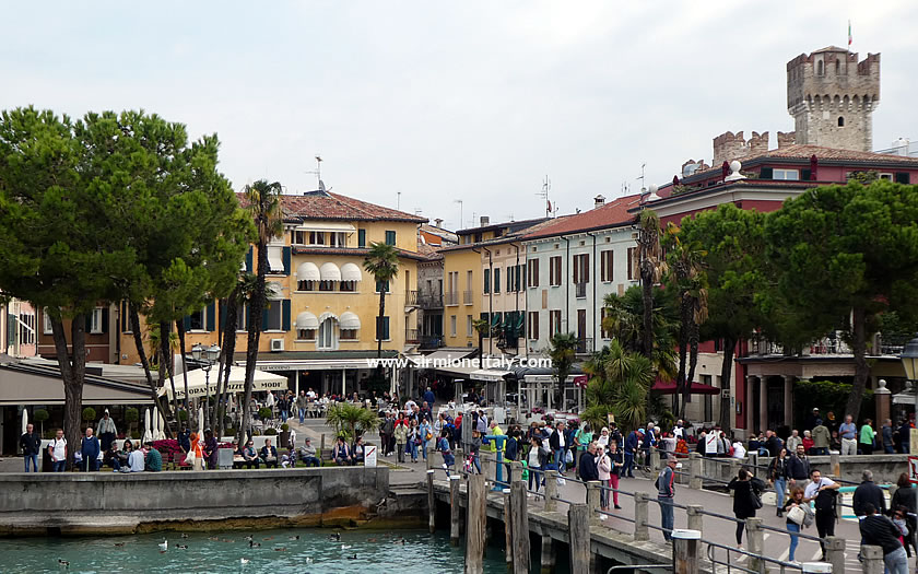 The port for the lake ferry at Sirmione